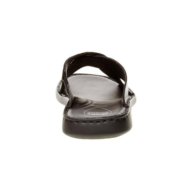 Męskie skórzane klapki, czarny, 874-6161 - 17