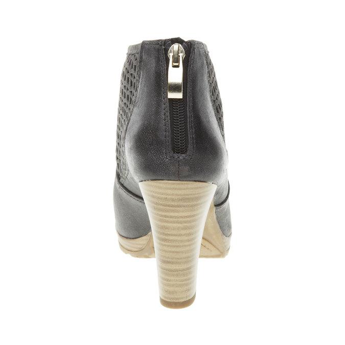 Kozaki do kostki na obcasie bata, czarny, 691-6106 - 17