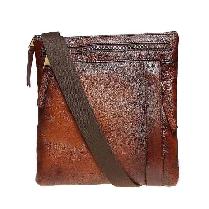 Męska skórzana torba Crossbody bata, brązowy, 964-4138 - 26