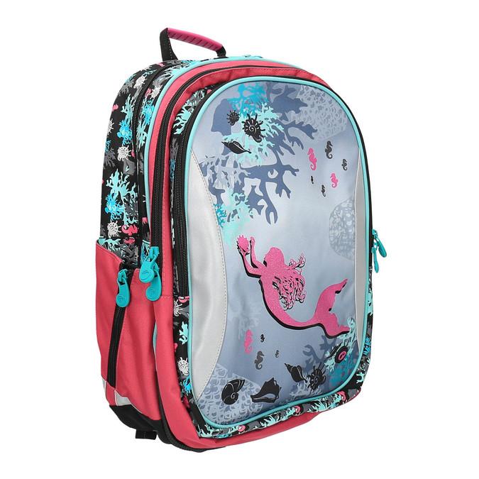 Dziewczęcy plecak szkolny z syrenką bagmaster, różowy, 969-5609 - 13