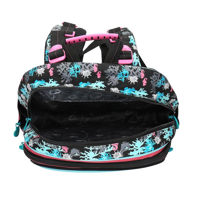 Dziewczęcy plecak szkolny z syrenką bagmaster, różowy, 969-5609 - 15