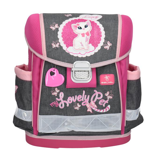 Różowy plecak szkolny belmil, różowy, 969-9623 - 17