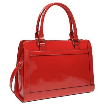 Czerwona lakierowana torebka bata, czerwony, 961-5610 - 13