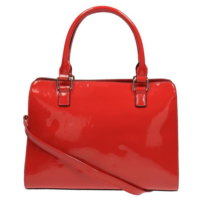 Czerwona lakierowana torebka bata, czerwony, 961-5610 - 26