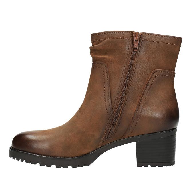 Botki damskie bata, brązowy, 696-4603 - 26