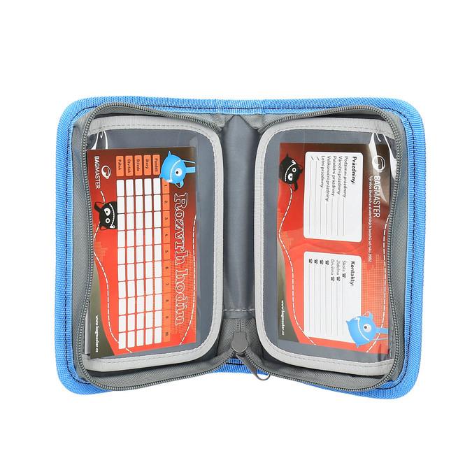 Niebieski piórnik szkolny bagmaster, niebieski, 949-9610 - 17