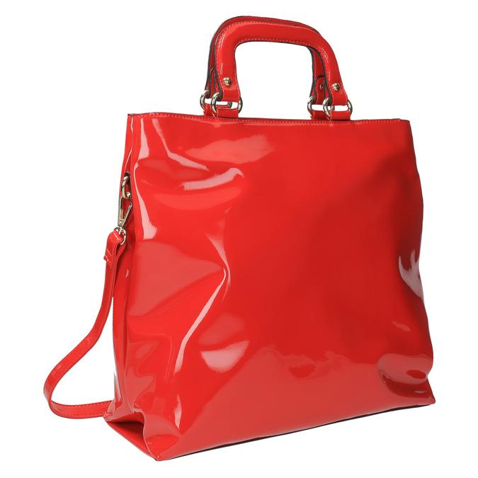 Czerwona torba damska do ręki bata, czerwony, 961-5606 - 13