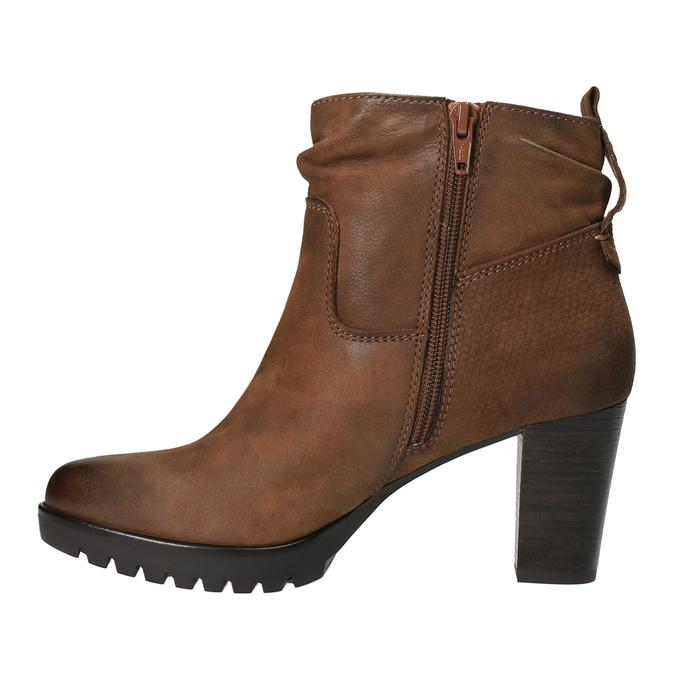 Botki damskie bata, brązowy, 796-4600 - 26
