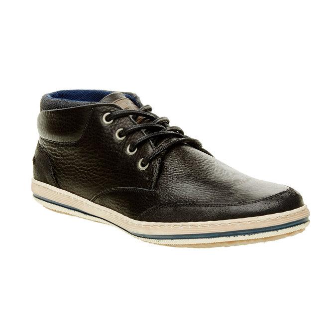 Skórzane buty sportowe do kostki bata, czarny, 844-6620 - 13