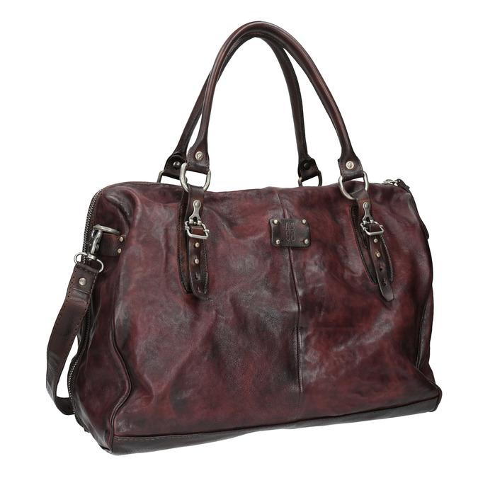 Skórzana torba zmetalowymi detalami a-s-98, czerwony, 966-5020 - 13