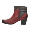 Damskie ocieplane botki bata, czerwony, 696-5617 - 26