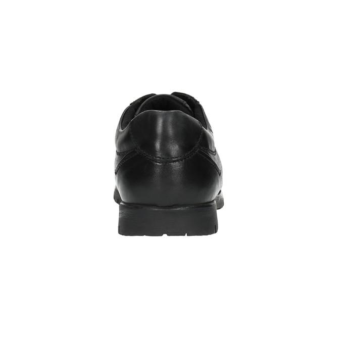Czarne skórzane półbuty na co dzień bata, czarny, 826-6652 - 17