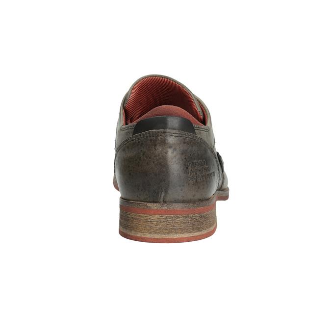 Półbuty ze skóry wnieformalnym stylu bata, szary, 824-2620 - 17