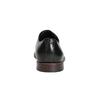 Czarne skórzane półbuty z wyrazistym stębnowaniem bata, czarny, 824-6684 - 17