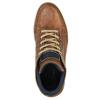 Skórzane trampki za kostkę bata, brązowy, 844-4621 - 19