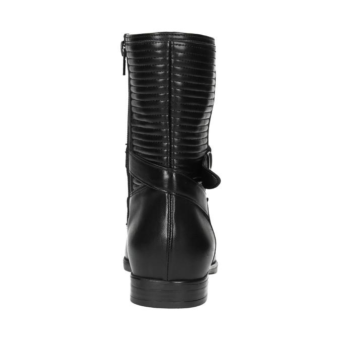 Damskie botki z przeszyciami bata, czarny, 594-6616 - 17