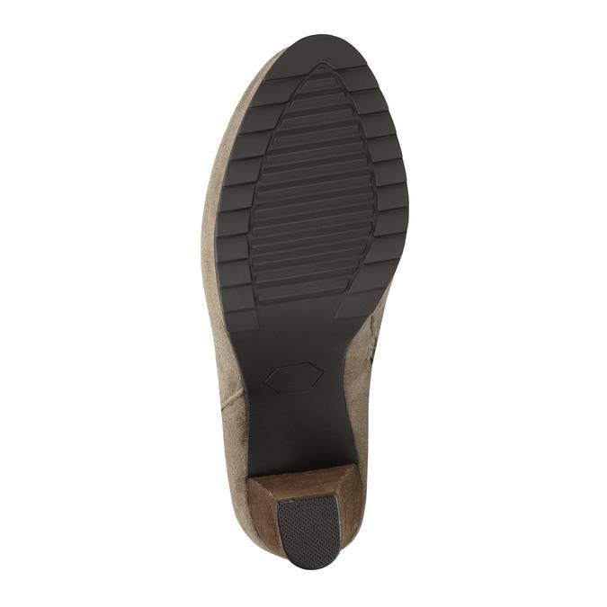 Botki damskie na wysokim obcasie bata, beżowy, 799-2603 - 26