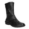 Skórzane ocieplane botki bata, czarny, 596-6624 - 13