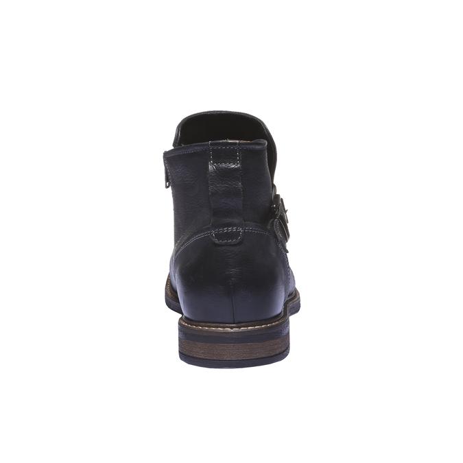 Skórzane buty do kostki bata, czarny, 894-6107 - 17