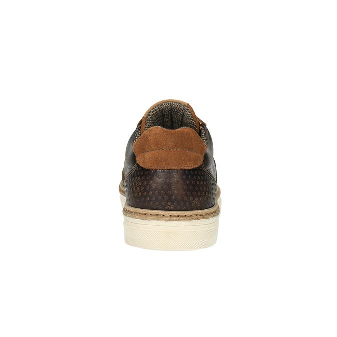 Trampki męskie ze skóry bata, brązowy, 846-4605 - 17