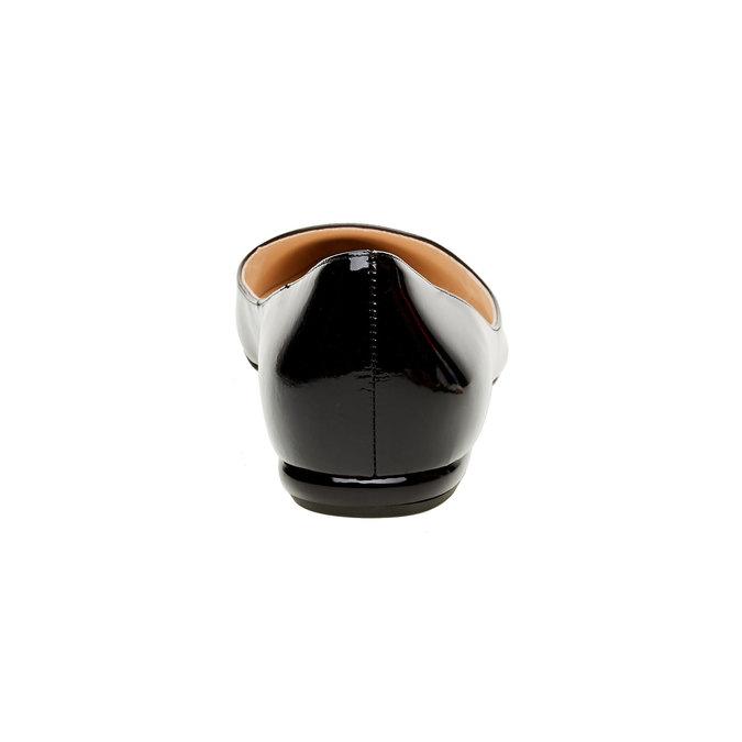 Baleriny z lakierowanej skóry hogl, czarny, 528-6005 - 17