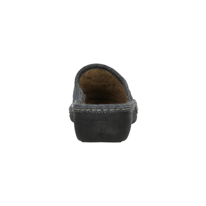 Damskie pantofle z haftem bata, szary, 579-2280 - 17