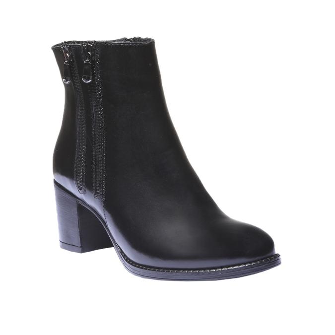 Skórzane botki bata, czarny, 794-6566 - 13
