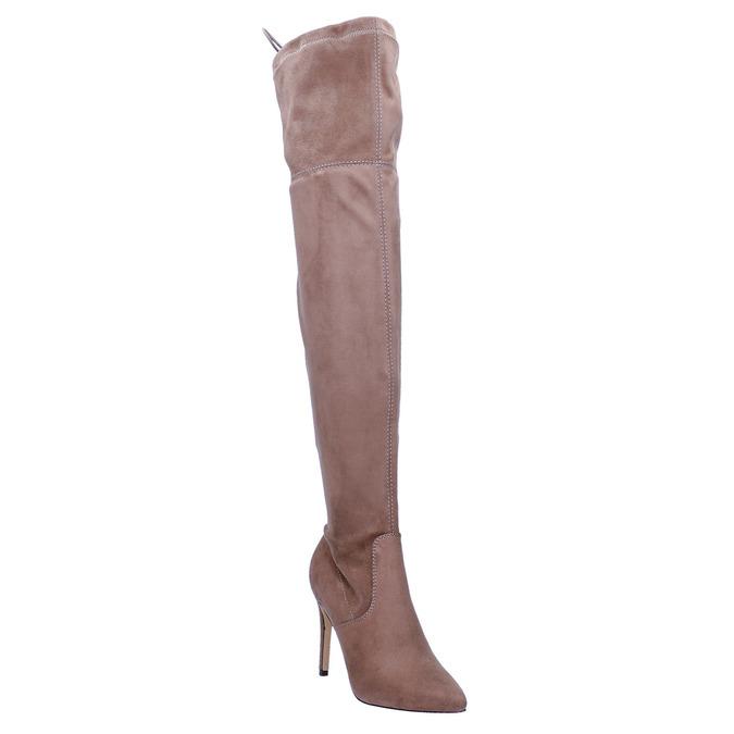 Kozaki damskie nad kolana bata, brązowy, 799-3600 - 13