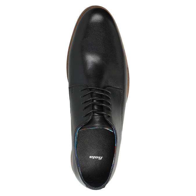 Skórzane męskie półbuty bata, czarny, 826-6643 - 19