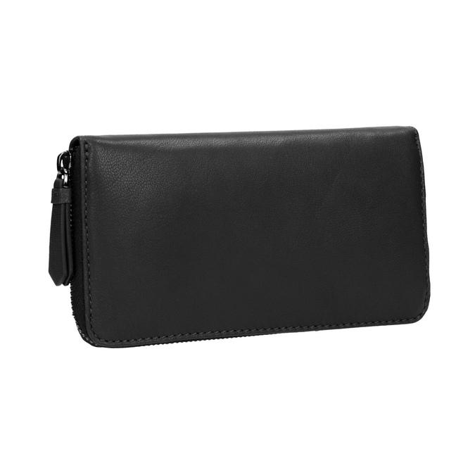 Damski skórzany portfel w czarnym kolorze bata, czarny, 944-6165 - 13