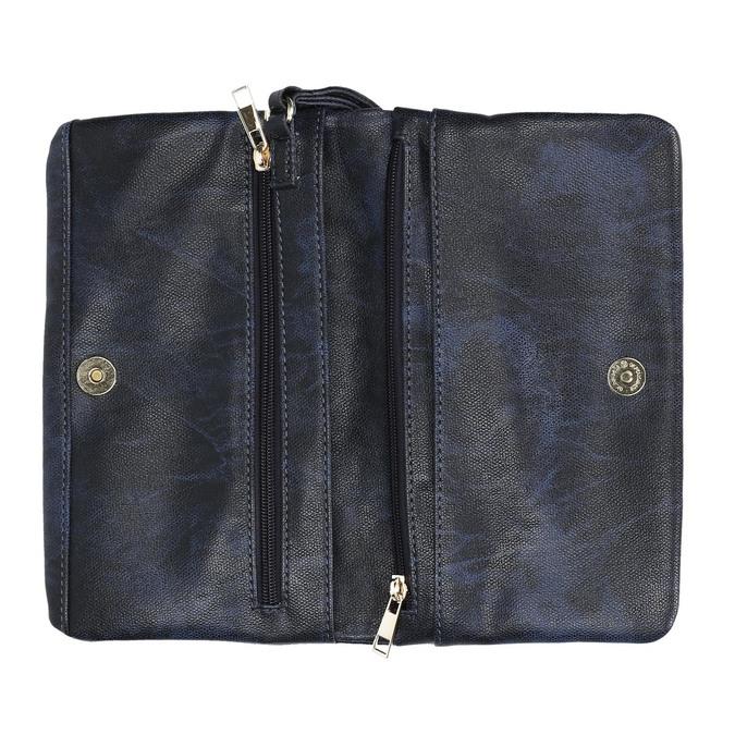 Kopertówka damska zpaskiem do zawieszenia na nadgarstku bata, niebieski, 961-9668 - 15