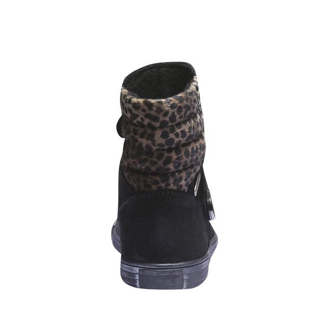 Dziewczęce buty do kostki richter, czarny, 393-6003 - 17
