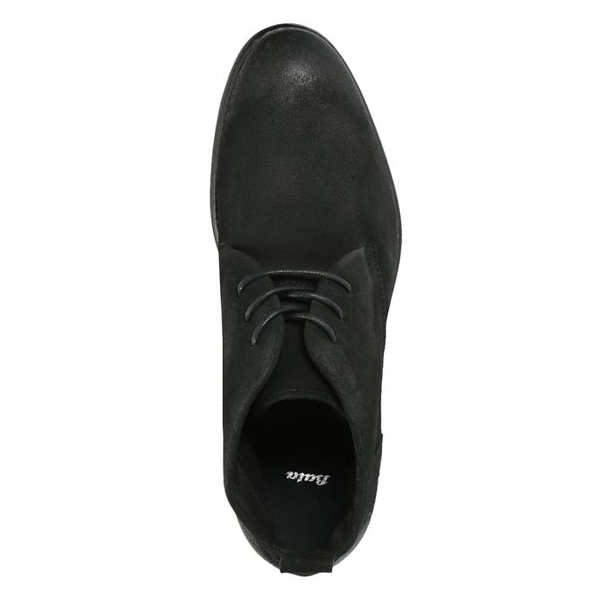 Zamszowe buty za kostkę bata, czarny, 846-9611 - 19