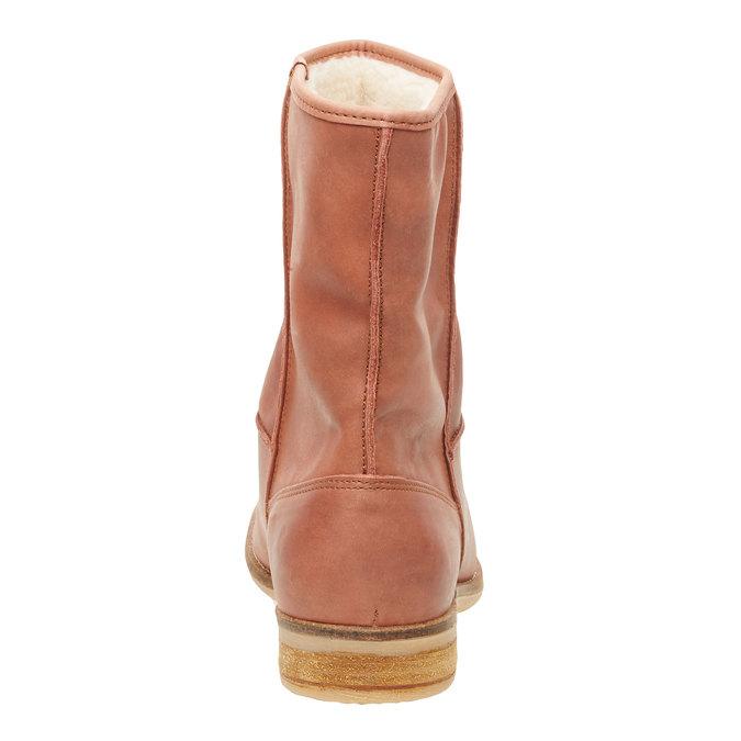 Skórzane botki bata, brązowy, 596-4105 - 17
