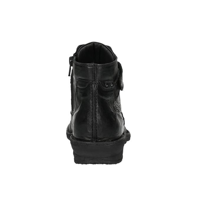 Damskie botki bata, czarny, 526-6602 - 17
