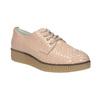 Damskie skórzane półbuty bata, różowy, 526-5613 - 13