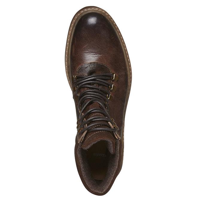 Sznurowane zimowe botki bata, brązowy, 894-4109 - 19