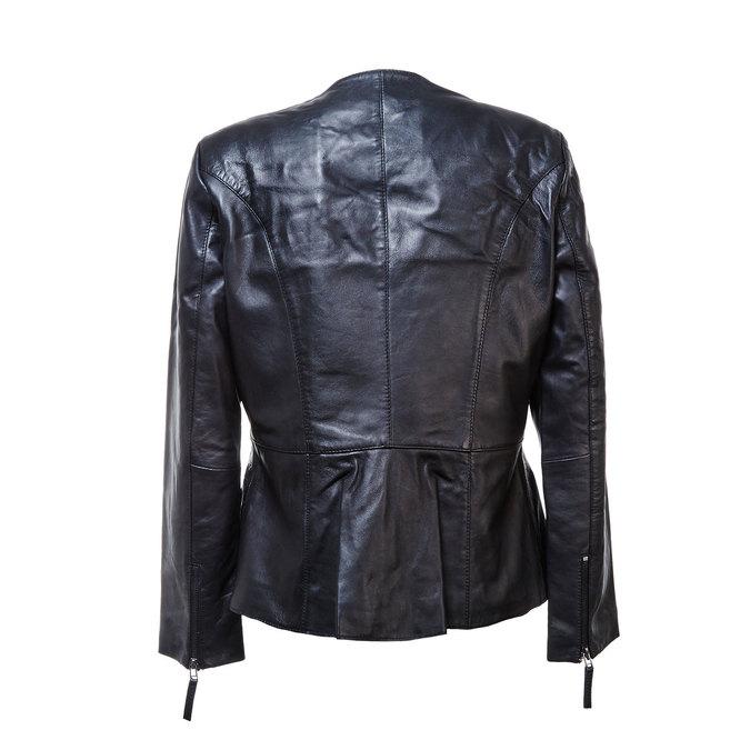 Czarna kurtka damska ze skóry bata, czarny, 974-6173 - 26