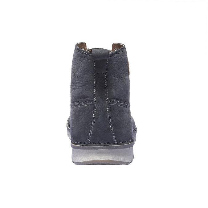Skórzane sznurowane buty weinbrenner, fioletowy, 896-9340 - 17