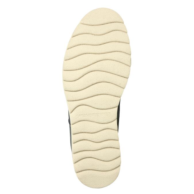 Męskie skórzane buty Chukka Boots weinbrenner, niebieski, 846-9629 - 17