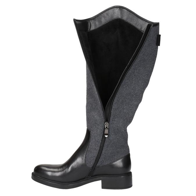 Damskie kozaki w jeździeckim stylu bata, czarny, 594-6630 - 19