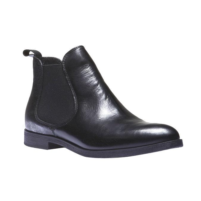 Damskie skórzane buty Chelsea bata, czarny, 594-6107 - 13