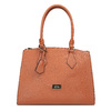 Brązowa torba damska ze sztywnymi uchwytami bata, brązowy, 961-3646 - 19