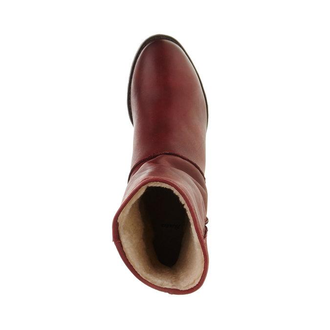 Skórzane botki bata, czerwony, 696-5109 - 19
