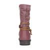 Kozaki dziewczęce ze skóry mini-b, różowy, 394-5100 - 17