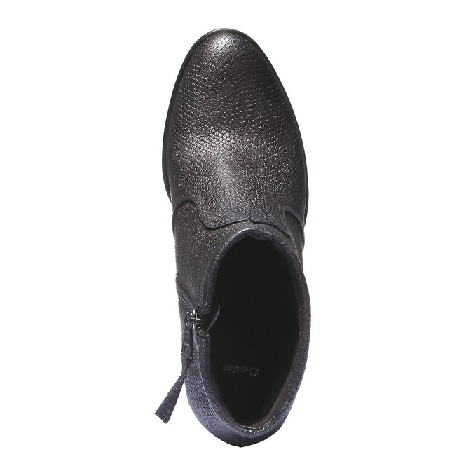 Skórzane buty do kostki bata, szary, 796-2107 - 19
