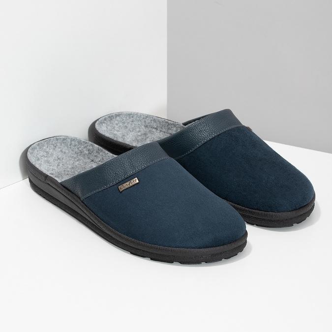 Kapcie męskie bata, niebieski, 879-9600 - 26