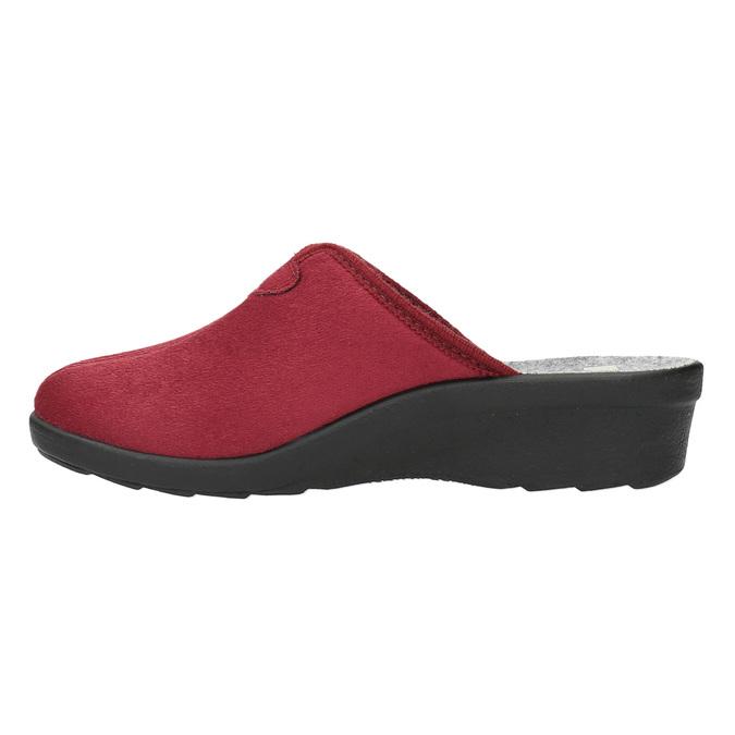 Kapcie damskie zpełnym noskiem bata, czerwony, 579-5602 - 26