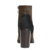 Skórzane botki na szerokim obcasie bata, brązowy, 799-3612 - 17