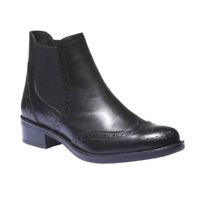 Botki o kroju Chelsea bata, czarny, 594-6532 - 13